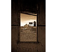 Inside Outhouse - South Australia Photographic Print