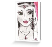 The Spider's Bride Greeting Card