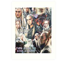 thranduil collage Art Print
