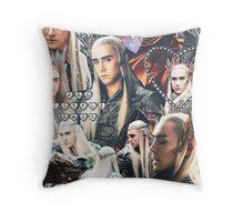 thranduil collage Throw Pillow