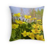 Wild Daffodils Throw Pillow