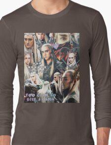thranduil collage Long Sleeve T-Shirt