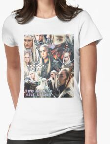 thranduil collage Womens Fitted T-Shirt