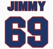 National football player Jimmy Saddler-McQueen jersey 69 by imsport