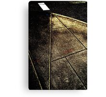 Posterized Pavement Canvas Print