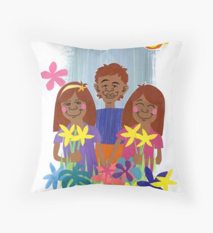 Mothers Day & flowers Throw Pillow