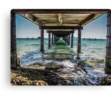 Under The Broadwalk Canvas Print
