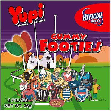 Official AFL Gummy Footies lolly packaging by vitbich