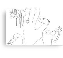 Petits Dessins Debiles - Small Weak Drawings#33 Canvas Print