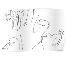 Petits Dessins Debiles - Small Weak Drawings#33 Poster