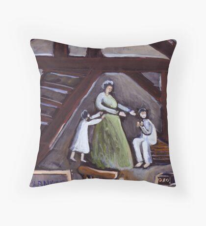 Air raid during  World War Two Throw Pillow