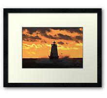 2014's Last Setting Sun Framed Print