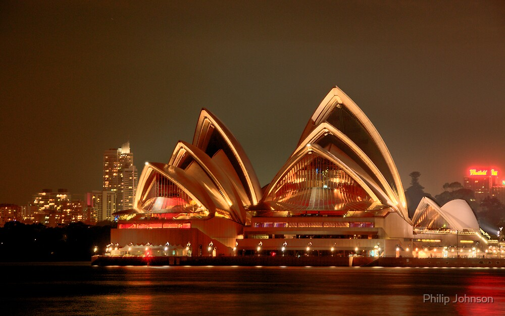 Ovation - The Opera House Goes HDR - Moods of A City #18 - Sydney Australia by Philip Johnson