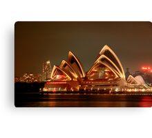 Ovation - The Opera House Goes HDR - Moods of A City #18 - Sydney Australia Canvas Print