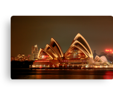 Ovation - The Opera House Goes HDR - Moods of A City #18 - Sydney Australia Canvas Print