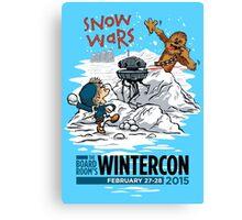 Snow Wars (for WINTERCON 2015) Canvas Print