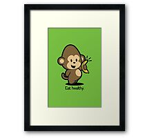 Farm Babies - Eat healthy. Framed Print
