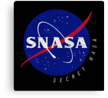 SNASA (Secret NASA - Logo) Canvas Print