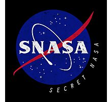 SNASA (Secret NASA - Logo) Photographic Print