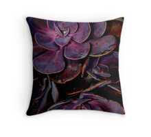 velvet aubergine cactus Throw Pillow