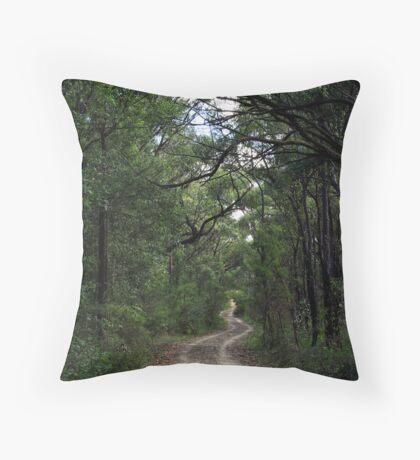 The Bush Track Throw Pillow