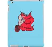 Lav the Spider doubts your resolve iPad Case/Skin