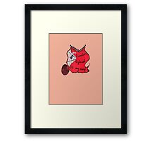 Lav the Spider doubts your resolve Framed Print