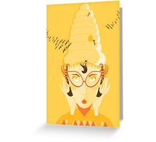 the beehive is back! Greeting Card
