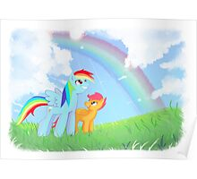 Mlp:fim Rainbow Dash and Scootaloo Poster