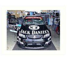 Jack Daniels Racing garage Art Print