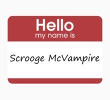 Hello My Name is Scrooge McVampire by futuredirewolf