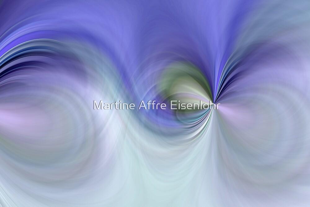 Blue curve design by Martine Affre Eisenlohr