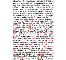 What does that mean? Texting Cheat Sheet  by Archanut