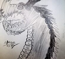 Dragon Sketch by Stephanie Hadley