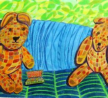 216 - BUT MUMMY TOLD US TO SHARE - DAVE EDWARDS - COLOURED PENCILS - 2008 by BLYTHART