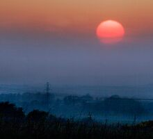 Sunset over West Lothian by Chris Clark