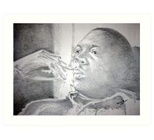 John Coltrane - Deep Thought Art Print