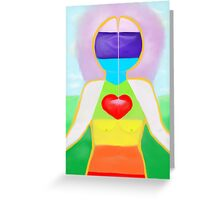 Lady Of The Rainbow - Alpha to Omega Greeting Card