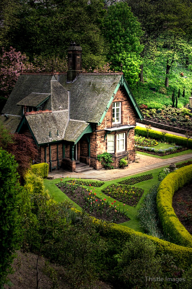 Cottage in the gardens by Linda  Morrison
