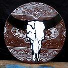 Stencil Skull on Vinyl by Tammo Winkler