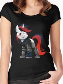 Determined Blackjack T-shirt (from the Project Horizons fanfic) Women's Fitted Scoop T-Shirt