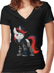Determined Blackjack T-shirt (from the Project Horizons fanfic) Women's Fitted V-Neck T-Shirt