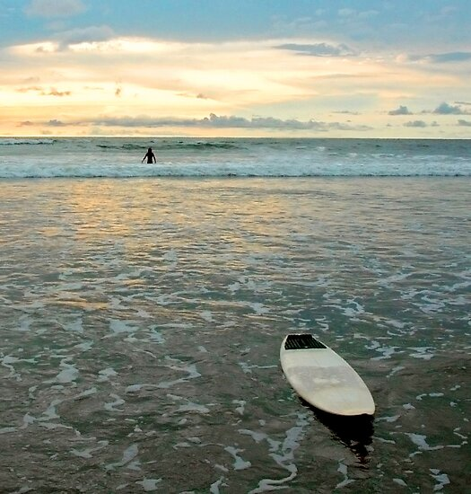 Playa Tamarindo Surf and Sunset by Eyal Nahmias