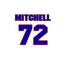 National football player Mitchell Schwartz jersey 72 Photographic Print