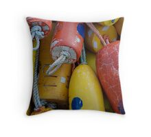 Floats - Newport, Oregon Throw Pillow