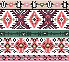 Navajo seamless colorful  tribal pattern with elementes quotes on labels by tomuato