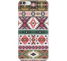 Navajo seamless colorful  tribal pattern with elementes quotes on labels iPhone Case/Skin