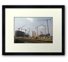 Cranes and more cranes Framed Print