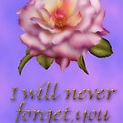 I will never forget you by Annika Strömgren