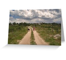 Summer Walk Greeting Card
